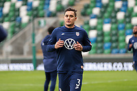 BELFAST, NORTHERN IRELAND - MARCH 28: Aaron Long #3 of the United States before a game between Northern Ireland and USMNT at Windsor Park on March 28, 2021 in Belfast, Northern Ireland.