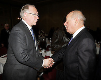 Montreal (Qc) CANADA - February 7  2011 - Gerald Tremblay, Mayor of Montreal<br />  (L) , charles lapointe, President Tourisme Montreal