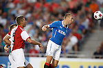 Kenny Miller heads in to score but his goal is disallowed for phantom offside