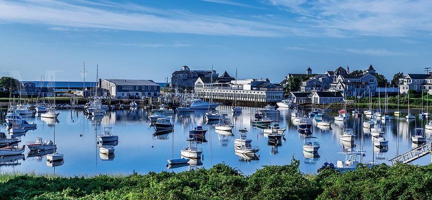 Wychmere Harbor and Beach Club, Harwich Port, Cape Cod, Massachusetts, USA.