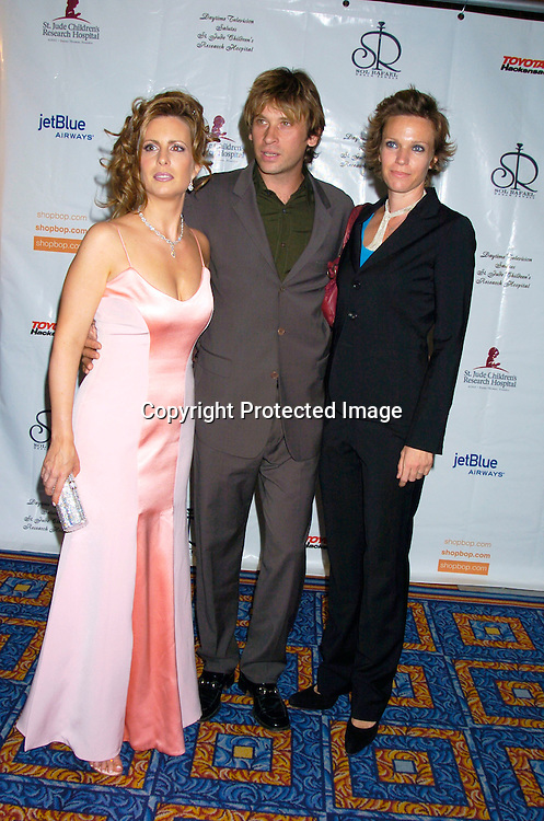 Martha Byrne, Roger Howarth and wife Cari ..at the 10th Annual Daytime Television Salutes St. Jude Children's Research Hospital Benefit on October 8, 2004 at the Marriott Marquis Hotel in New York City...Photo by Robin Platzer, Twin Images