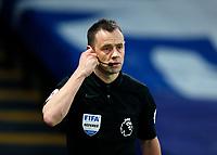 2nd January 2021; Selhurst Park, London, England; English Premier League Football, Crystal Palace versus Sheffield United; Referee Stuart Attwell