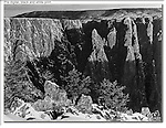 Traditional black & white print (before digital), Black Canyon of the Gunnison National Park, Colorado.  Just because you hiked a long way in the snow doesn't add to the quality of a print. John leads private tours throughout Colorado, year-round.