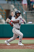Tri-City ValleyCats E.P. Reese (36) bats during a NY-Penn League game against the Brooklyn Cyclones on August 17, 2019 at MCU Park in Brooklyn, New York.  Brooklyn defeated Tri-City 2-1.  (Mike Janes/Four Seam Images)