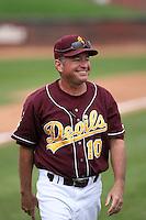 Tim Esmay, head coach, Arizona State Sun Devils - Annual Alumni game at Packard Stadium, Tempe, AZ - 02/06/2010..Photo by:  Bill Mitchell/Four Seam Images.
