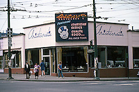 Vancouver: Aristocratic Coffee Shop, SW Corner Broadway & Granville.