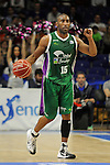 Unicaja´s Jayson Granger during 2014-15 Liga Endesa match between Real Madrid and Unicaja at Palacio de los Deportes stadium in Madrid, Spain. April 30, 2015. (ALTERPHOTOS/Luis Fernandez)
