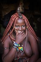 Himba Woman in remote Kaokoland, Namibia