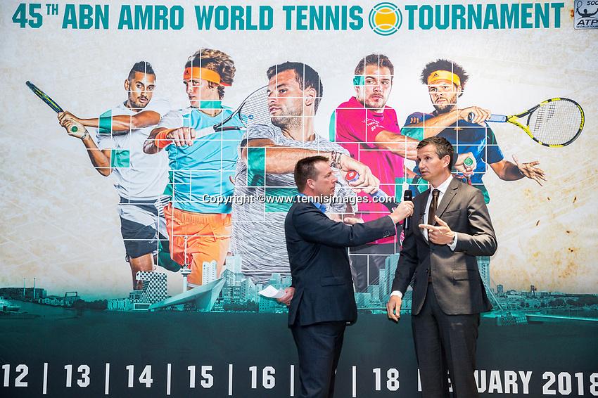 Amsterdam, Netherlands, Januari 10, 2017, Pressconference ABNAMROWTT 2018, Richard Kraijeck<br /> Photo: Tennisimages/Henk Koster