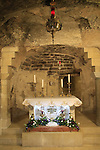 Israel, Galilee, the Grotto of the Annunciation at the Church of the Annunciation in Nazareth