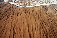 Sand patterns at Koki Beach, Maui, Hawaii