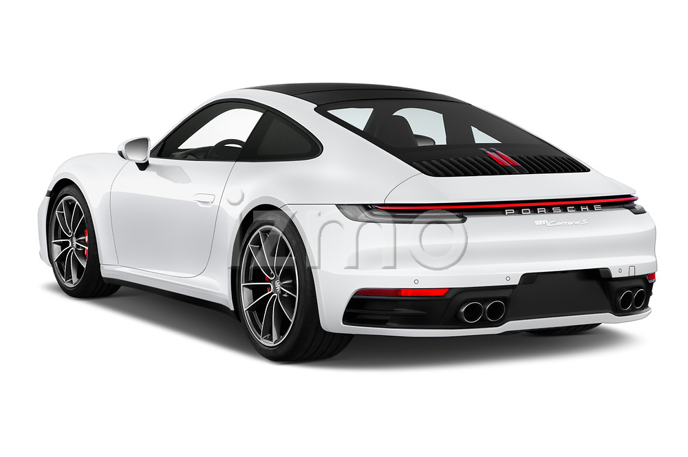 Car pictures of rear three quarter view of 2020 Porsche 911 Carrera-S 2 Door Coupe Angular Rear