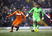 Pictured L-R: Danny Graham of Swansea against Ben Foster goalkeeper for West Bromwich. Saturday, 04 February 2012<br /> Re: Premier League football, West Bromwich Albion v Swansea City FC v at the Hawthorns Stadium, Birmingham, West Midlands.