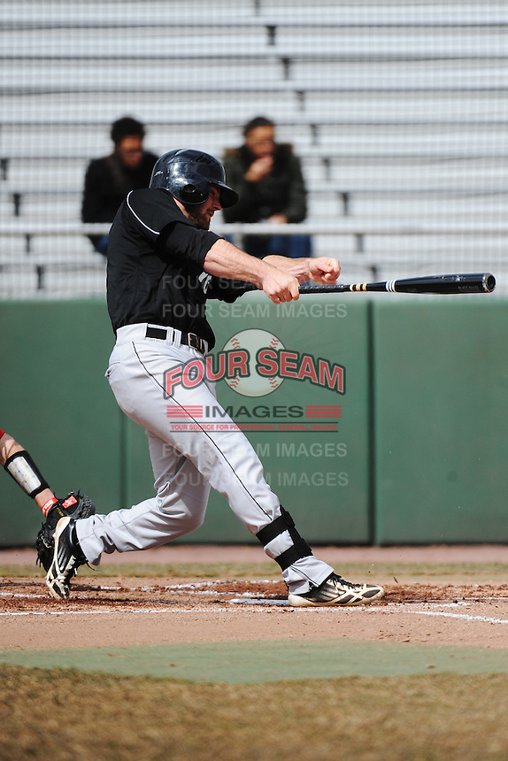 Cincinnati Bearcats outfielder Justin Glass(16) during 1st game of double header against the St. John's Redstorm at Jack Kaiser Stadium on March 28, 2013 in Queens, New York. St. John's defeated Cincinnati 6-5.      . (Tomasso DeRosa/ Four Seam Images)