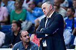 Real Madrid's player coach Pablo Laso during the third match of the Liga Endesa Playoff at Barclaycard Center in Madrid. May 31. 2016. (ALTERPHOTOS/Borja B.Hojas)