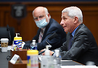 Centers for Disease Control and Prevention Dr. Robert Redfield listens as Director of the National Institute for Allergy and Infectious Diseases Dr. Anthony Fauci testifies before the House Committee on Energy and Commerce on the Trump Administration's Response to the COVID-19 Pandemic, on Capitol Hill in Washington, DC on Tuesday, June 23, 2020. <br /> Credit: Kevin Dietsch / Pool via CNP/AdMedia