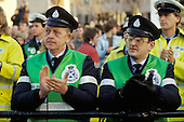 Ambulance workers rally at Trafalgar Square, London, during their 1990 pay dispute