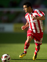 MELBOURNE, AUSTRALIA - January 2:  Aziz Behich of the Heart controls the ball during the round 21 A-League match between Melbourne Heart and North Queensland Fury at AAMI Park on January 2, 2011 in Melbourne, Australia. (Photo by Sydney Low / Asterisk Images)