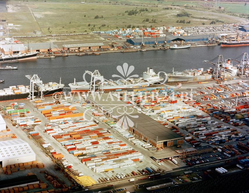 September 1978. Noord Natie in de haven van Antwerpen.