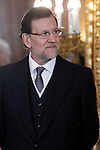 Prime Minister of Spain Mariano Rajoy attends the reception of the diplomatic corps in Spain at Palacio Real. January 23, 2013. (ALTERPHOTOS/Caro Marin)