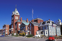 Newport, NH, New Hampshire, Downtown Newport in the autumn.