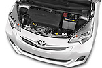 Car Stock 2015 Toyota Verso-S skyview 5 Door Hatchback 2WD Engine high angle detail view