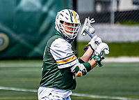 1 May 2021: University of Vermont Catamount Longstick Midfielder Matt Hill, a Senior from Exton, PA, warms up prior to a game against the Stony Brook University Seawolves at Virtue Field in Burlington, Vermont. The Cats edged out the Seawolves 14-13 with less than one second to play in their America East Men's Lacrosse matchup. Mandatory Credit: Ed Wolfstein Photo *** RAW (NEF) Image File Available ***