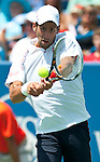 Novak Djokovic of Serbia at the Western & Southern Open in Mason, OH on August 17, 2012.