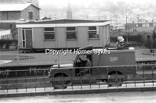 Derry Northern Ireland Londonderry 1983 British soldiers on patrol.