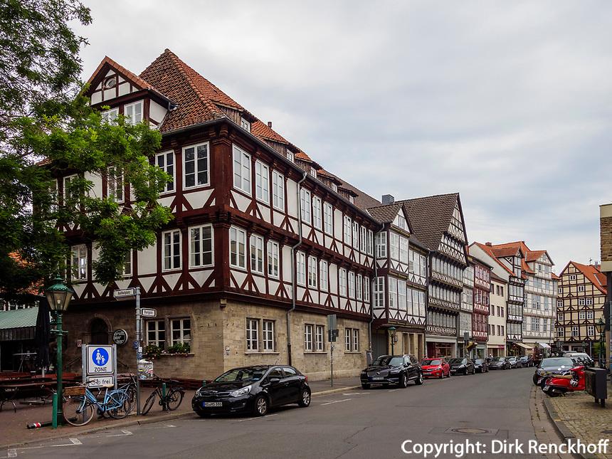 Fachwerkhäuser an der Burgstraße, Hannover, Niedersachsen, Deutschland, Europa<br /> half-timbered houses at Burg St., Hanover, Lower Saxony, Germany, Europe