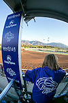 ARCADIA, CA - NOV 03: A general view of the track from the trackside marquee during morning workouts at Santa Anita Park on November 3, 2016 in Arcadia, California. (Photo by Doug Engle/Eclipse Sportswire/Breeders Cup)