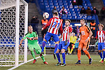 Atletico de Madrid's Kevin Gameiro and Saúl Ñígez and SD Eibar's Yoel Rodriguez and Florian Lejeune during Copa del Rey match between Atletico de Madrid and SD Eibar at Vicente Calderon Stadium in Madrid, Spain. January 19, 2017. (ALTERPHOTOS/BorjaB.Hojas)