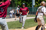 WATERBURY, CT 073121JS11 South Troy's (0) comes in to score on a hit by teammate during their Mickey Mantle World Series baseball game against Midland Saturday at Municipal Stadium in Waterbury. <br /> Jim Shannon Republican American