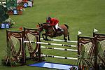August 07, 2009: Giuseppe D'Onofrio (Italy) aboard Landzeu 2 clear the 5th fence. Meydan FEI Nations Cup. Failte Ireland Horse Show. The RDS, Dublin, Ireland.