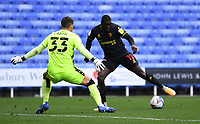 3rd October 2020; Madejski Stadium, Reading, Berkshire, England; English Football League Championship Football, Reading versus Watford; Ken Sema of Watford takes on Rafael of Reading