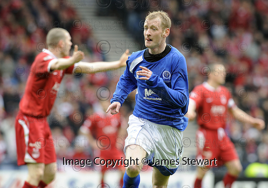 12/04/2008    Copyright Pic: James Stewart.File Name : sct_jspa21_qots_v_aberdeen.JOHN STEWART CELEBRATES AFTER HE SCORES THE FOURTH FOR QUEEN OF THE SOUTH....James Stewart Photo Agency 19 Carronlea Drive, Falkirk. FK2 8DN      Vat Reg No. 607 6932 25.Studio      : +44 (0)1324 611191 .Mobile      : +44 (0)7721 416997.E-mail  :  jim@jspa.co.uk.If you require further information then contact Jim Stewart on any of the numbers above........