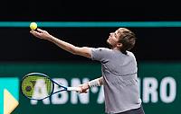 Rotterdam, The Netherlands, 4 march  2021, ABNAMRO World Tennis Tournament, Ahoy, Second round match: Alexander Bublik (KAZ).<br /> Photo: www.tennisimages.com/
