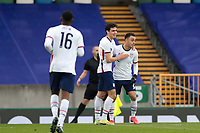 BELFAST, NORTHERN IRELAND - MARCH 28: Gio Reyna #7 of the United States celebrates scoring with Sergino Dest #2 of the United States during a game between Northern Ireland and USMNT at Windsor Park on March 28, 2021 in Belfast, Northern Ireland.