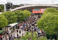 29-05-13, Tennis, France, Paris, Roland Garros,  Vieuw towards court Suzanne Lenglen