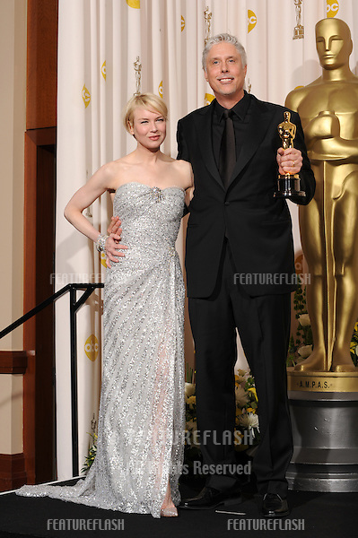 Christopher Rouse & Renee Zellweger at the 80th Annual Academy Awards at the Kodak Theatre, Hollywood..February 24, 2008 Los Angeles, CA.Picture: Paul Smith / Featureflash
