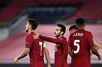 Football Soccer: UEFA Europa League UEFA Europa League Group A  AS Roma vs FCR Cluj, Olympic stadium, Rome, 5 November, 2020.<br /> Roma's Pedro Rodriguez (c) celebrates after scoring with his teammates during the Europa League football match between Roma and Cluj at the Olympic stadium in Rome on  5 November, 2020.<br /> UPDATE IMAGES PRESS/Isabella Bonotto