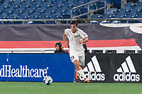 FOXBOROUGH, MA - SEPTEMBER 1: Manu Ferriol #21 of FC Tucson brings the ball forward during a game between FC Tucson and New England Revolution II at Gillette Stadium on September 1, 2021 in Foxborough, Massachusetts.