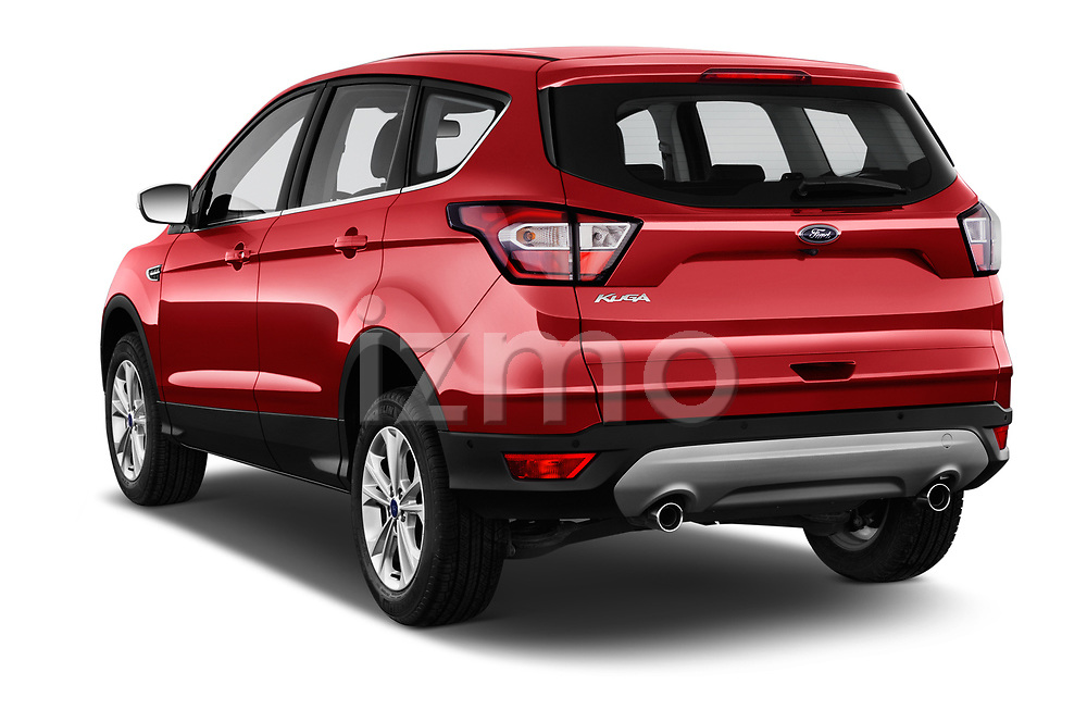 Car pictures of rear three quarter view of 2017 Ford Kuga Titanium 5 Door SUV Angular Rear