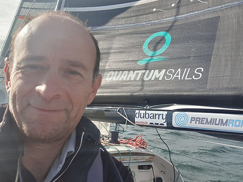 Yannick Lemonnier was on his way back to Ireland, following the French Mini Fastnet race he had completed a few days previous