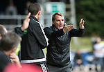 St Johnstone v Celtic…20.08.16..  McDiarmid Park  SPFL<br />Brendan Rodgers has a go at 4th official Andrew Dallas<br />Picture by Graeme Hart.<br />Copyright Perthshire Picture Agency<br />Tel: 01738 623350  Mobile: 07990 594431
