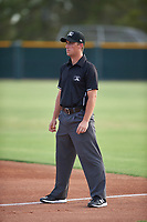 Umpire Jarrod Moehlmann during an Arizona League game between the AZL Giants Black and the AZL Giants Orange on July 19, 2019 at the Giants Baseball Complex in Scottsdale, Arizona. The AZL Giants Black defeated the AZL Giants Orange 8-5. (Zachary Lucy/Four Seam Images)