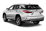 Car pictures of rear three quarter view of a 2017 Lexus RX 350 L 5 Door SUV angular rear