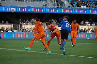 SAN JOSE, CA - JULY 24: Chris Wondolowski #8 during a game between Houston Dynamo and San Jose Earthquakes at PayPal Stadium on July 24, 2021 in San Jose, California.