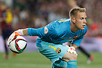 Barcelona´s Ter Stegen during 2014-15 Copa del Rey final match between Barcelona and Athletic de Bilbao at Camp Nou stadium in Barcelona, Spain. May 30, 2015. (ALTERPHOTOS/Victor Blanco)