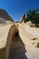 Underground passage leading to the Apple church in Goreme Open Air Museum, Cappadocia, Turkey